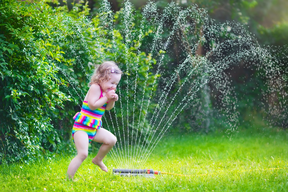 Sprinkler summer fun