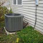 landscape around air conditioner unit