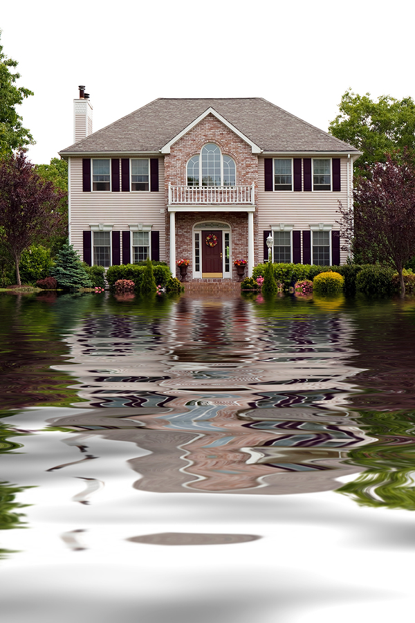 Flooded home in Raleigh, NC